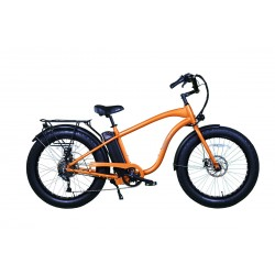 "ION EZ Rider Fat Tire Electric Beach Cruiser in ""Orange Blaze"""