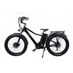 ION Dually - All Wheel Drive Electric Mountain Bike with Super Cruiser Custom Handlebars