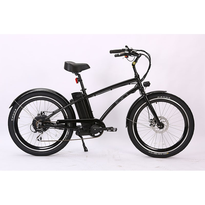 Ion Electric Beach Cruiser. Shimano 7 speed with Acera derailleur.